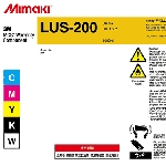 Mimaki I-LUS20-K-BA-1 LUS-200 UV curable ink BLACK 1L