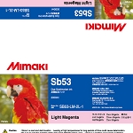 I-Sb53-LM-2L Light Magenta Sb53 Dye Sublimation Ink 2 Liter Ink Pack