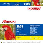 I-Sb53-Y-2L Yellow Sb53 Dye Sublimation Ink 2 Liter Ink Pack