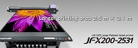 Mimaki JFX200-2531 wide format extended flatbed UV printer