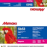 I-Sb53-M-2L Magenta Sb53 Dye Sublimation Ink 2 Liter Ink Pack