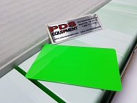 CR80/30 FG-NM Blank Fluorescent Green card No Mag strip (Box of 500) $0.19 per card