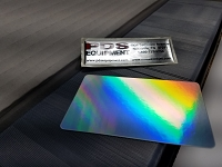 CR80/30 Rf-NM Blank Rainbow Foil card No Mag strip (Box of 500) $0.27 per card (out of stock)