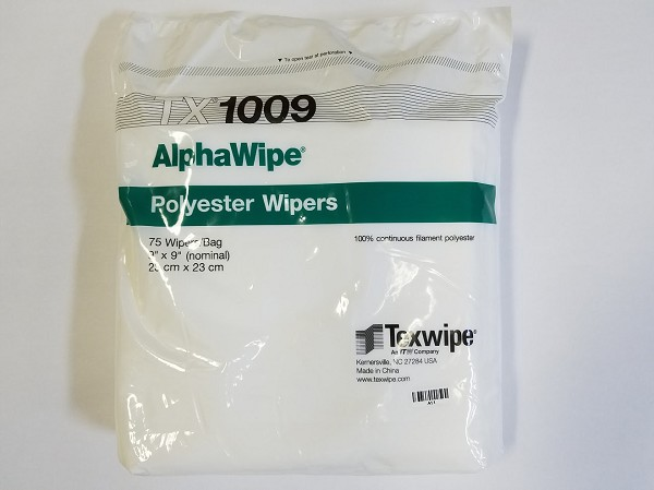 "TX1009 Texwipe Wipers 9"" X 9"" Polyester AlphaWipe Bag of 75"