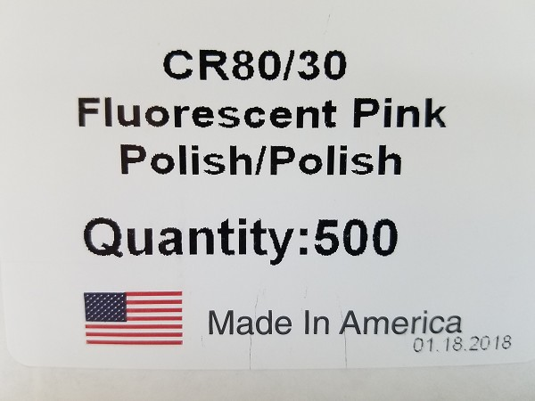 CR80/30 FP-NM Blank Fluorescent Pink card No Mag strip (Box of 500) $0.19 per card