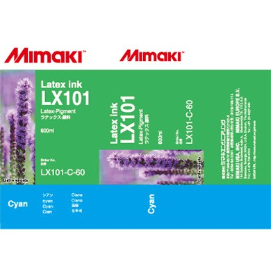 I-LX101-C-60-1 Cyan for Mimaki JV400-130LX , JV400-160LX Latex