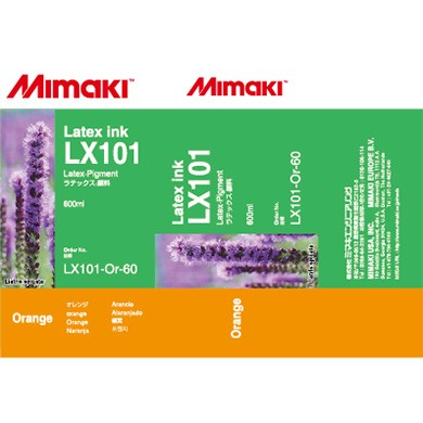 I-LX101-Or-60-1 Orange for Mimaki JV400-130LX , JV400-160LX Latex Ink
