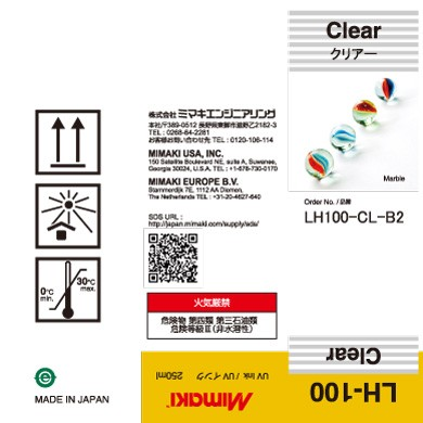 I-LH100-Cl-B2 LH-100 UV curable ink 250ml bottle Clear