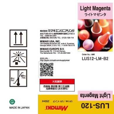 I-LUS12-LM-B2 LUS120 UV curable ink 250ml bottle Light Magenta