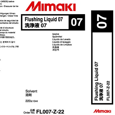C-FL007-Z-22-1 Flushing Liquid 07 Cleaning liquid. 220cc cartridge.