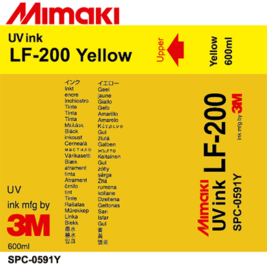 SPC-0591Y LF-200 UV curable ink pack Yellow