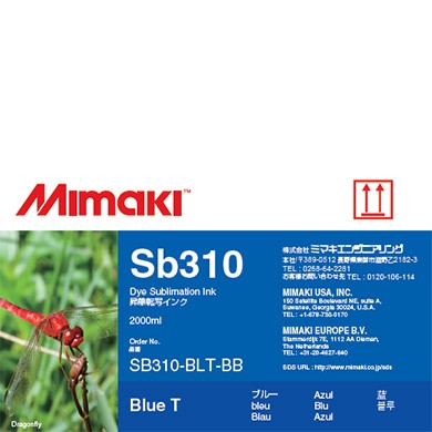 I-SB310-BLT-BB-1 - Dye Sublimation Sb310 Ink Blue 2L Bottle