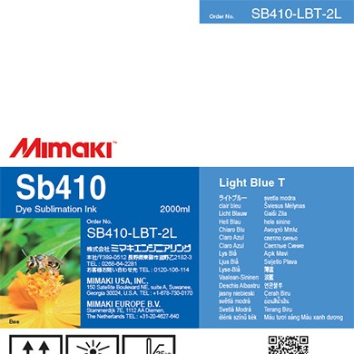 I-SB410-LBT-2L-1 Dye Sublimation Ink Sb410 Light Blue 2L Pack